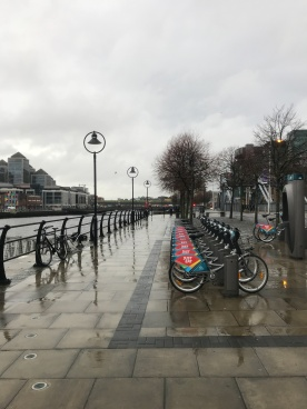 Bike to rent along the waterfront.